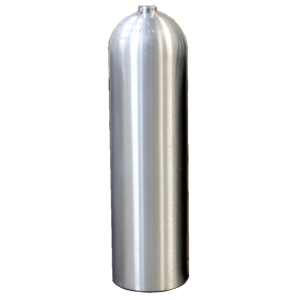 11 LITRE ALUMINIUM CYLINDER - BRUSHED FINISH